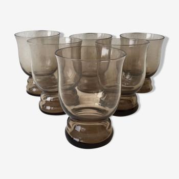 Set de 6 verres à alcool vintage