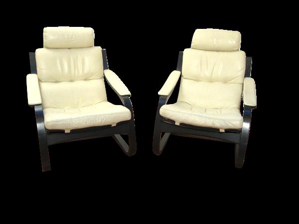 Selency Paire de fauteuils de Ake Fribyter pour Nelo