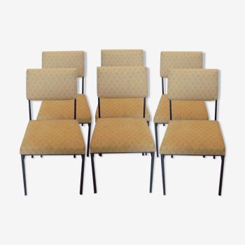 Serie de 6 chaises de Lecoq et Philippon pour Airborne des années 60