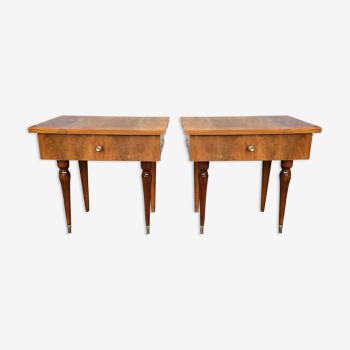Paire de tables de chevet des années 60