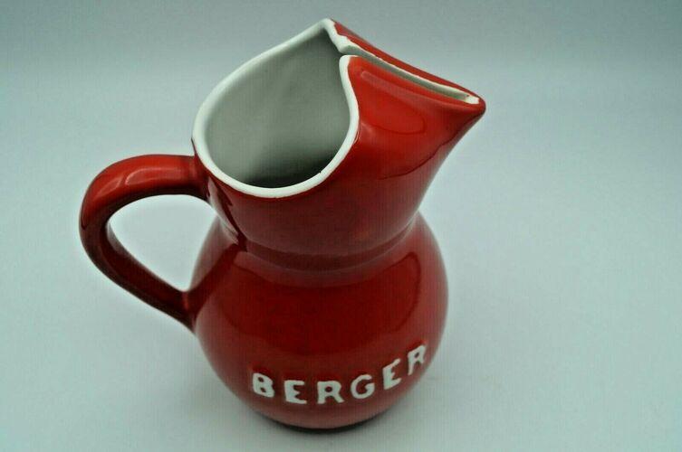 Pichet vintage   rouge et blanc