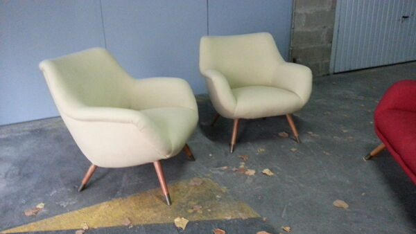 1/2 fauteuil organic année 50 original