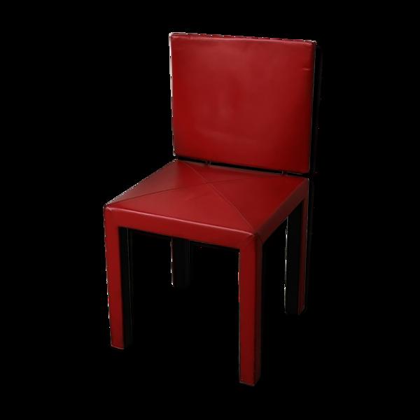Chaise en cuir rouge de B&B Italia