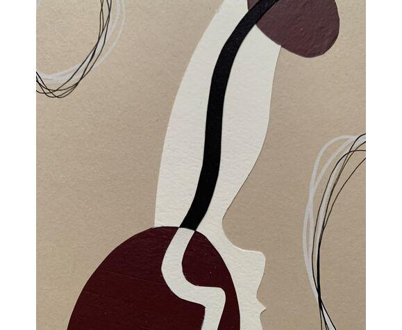 Collage 'Window V' de la série 'Silhouettes'
