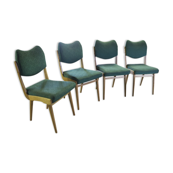 Set of four Chairs Dining vintage 1960