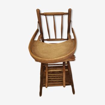 Former baumann high-cannée chair transformable in wood