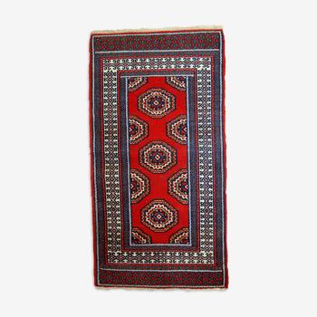 Tapis vintage indien mahal fait main 82cm x 156cm 1970