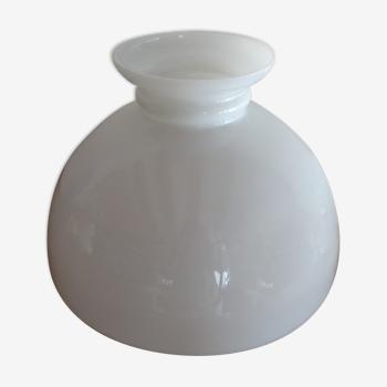 Abat jour globe opaline pour suspension lustre vintage 29,8 cm
