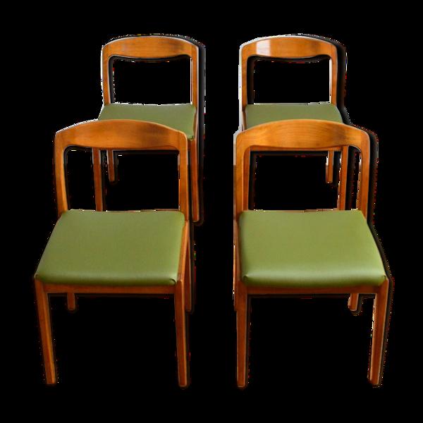 Selency Suite de 4 chaises design scandinave Roche Bobois vintage 1960s