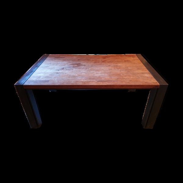 Table en métal et bois pont de bateau