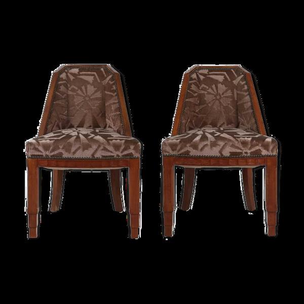 Paire de chaises Art Déco de Gaston et Fernand Saddier Circa.1925