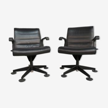 Paire de fauteuils Sapper édité par Knoll