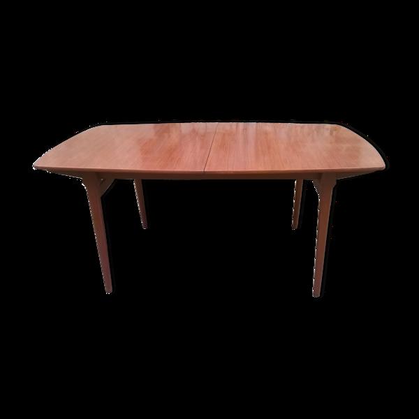 Selency Table à manger extensible en teck scandinave