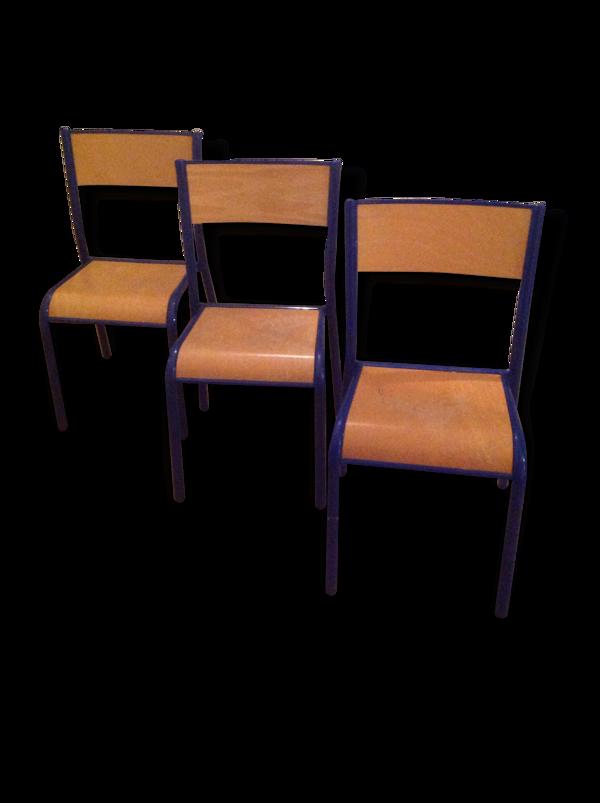 3 chaises d'école