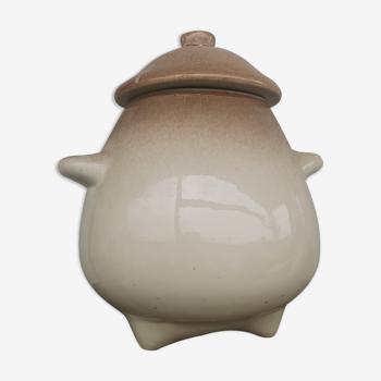 Pot en céramique tripode