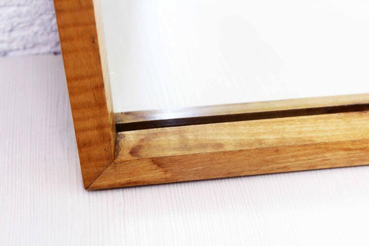 Miroir rétroviseur cadre en érable 82x45cm