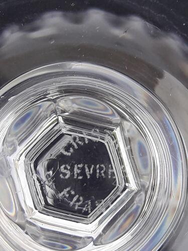 Set de 4  verres à vin blanc estampillés Cristal de Sèvres modèle Savannah jamais servi H 14 cm