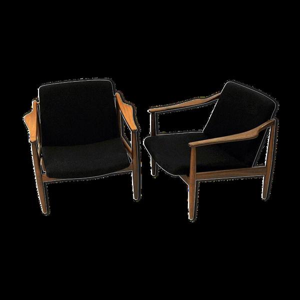 Paire de fauteuil en teck par Hartmut Lohmeyer années 1950, Allemagne