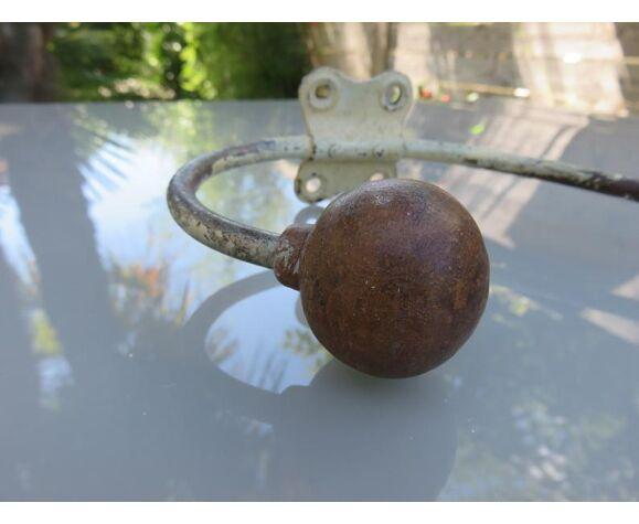 Patère bistrot bois et métal années 30 40