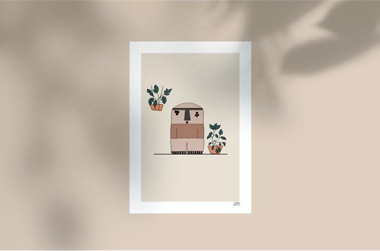 """Illustration """" La Cailloute à un corps """""""