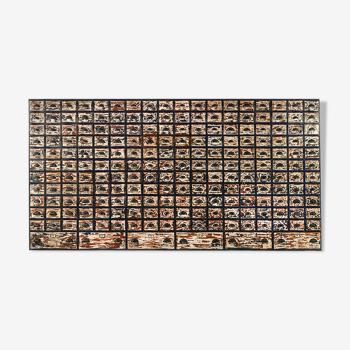 Meuble d'atelier en bois à 204 tiroirs