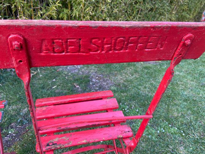 Set de 2 chaises pliantes jardin brasserie Adelshofen bar bistrot vintage