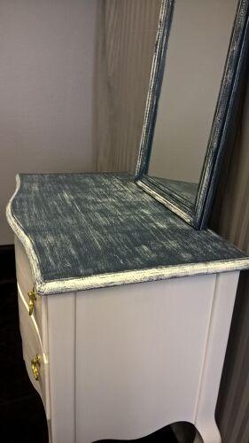 Coiffeuse et miroir blue jeans