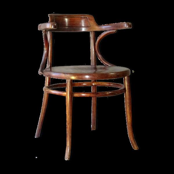 Fauteuil de bureau en bois-courbé par Ungvar 1900