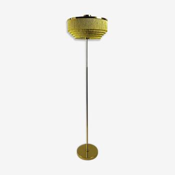 Lampadaire vintage à franges en soie modèle G-110 par Hans-Agne Jakobsson