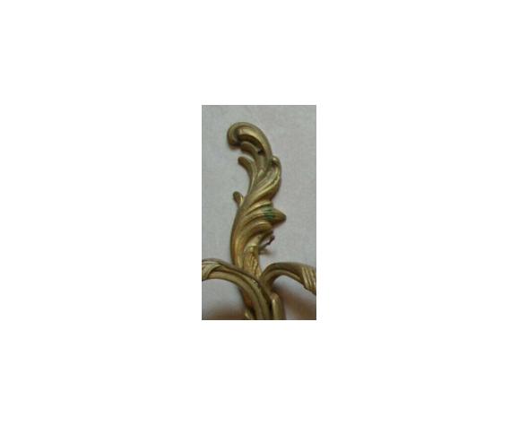 Paire d'appliques à 2 feux en bronze signés LG Lucien Gau