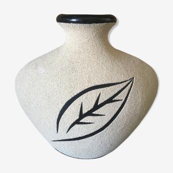 Vase sablé céramique style ethnique