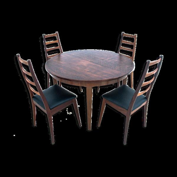 Table avec chaises, Danemark, années 1960