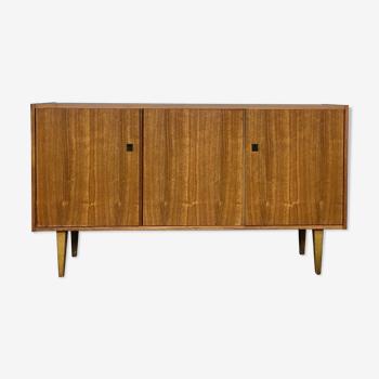 Sideboard - walnut - 50/60 - Scandinavian style - spindle feet