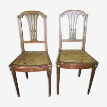 Paire de chaises pour chambre Napoléon III