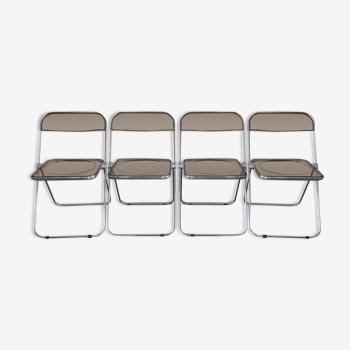 Lot de 4 chaises de Giancarlo Piretti pour Castelli