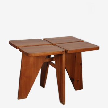 Table de repas en bois, travail tchèque des années 1960