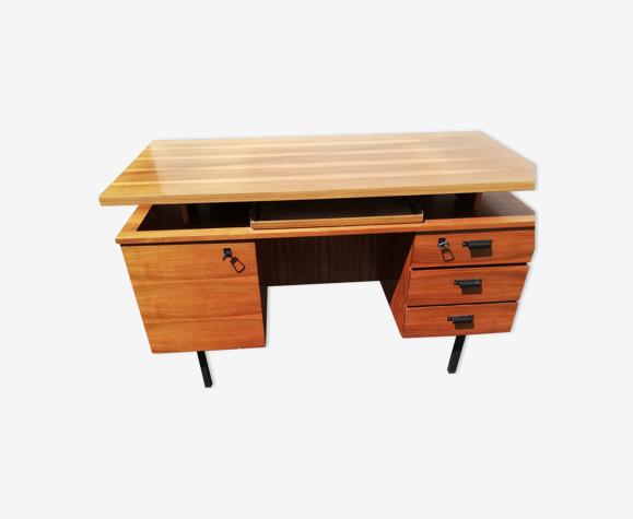 Bureau vintage 3 tiroirs 1 porte