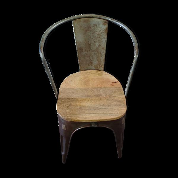 Chaise industrielle vintage