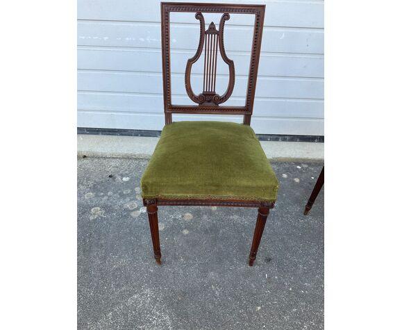 Paire de chaises lyre