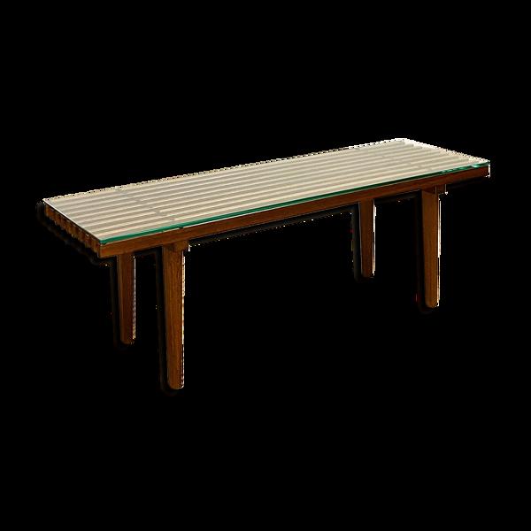 Selency Table basse en teck moderne du milieu du siècle
