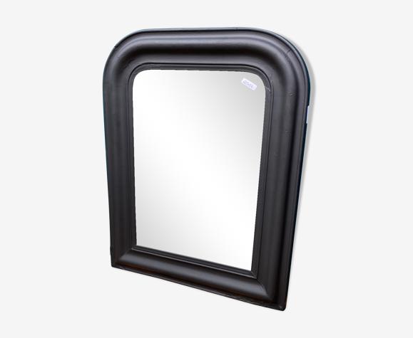 Miroir style Louis-Philippe noir mat 54x69cm
