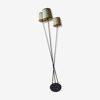 Lampadaire design en laiton 3 feux Arlus
