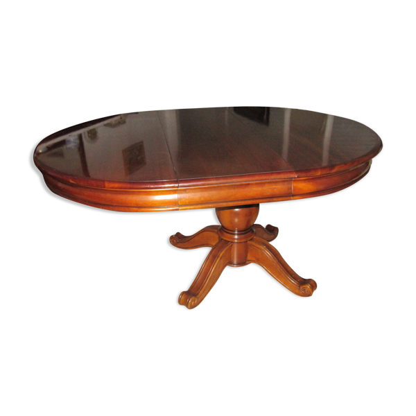 Table diamètre en bois massif