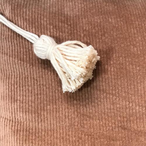Housse de coussin en velours côtelé bio 50cm
