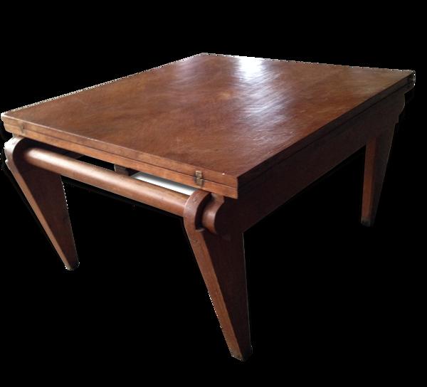Selency Table basse années 50 à système