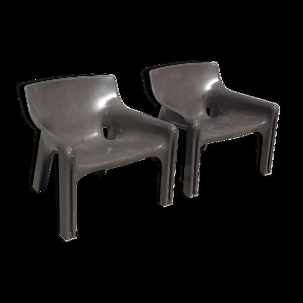 Selency Paire de fauteuils par Vico Magisttreti