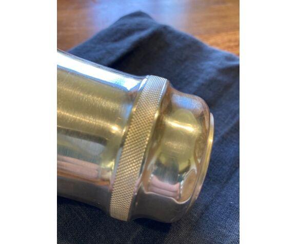 Timbale en métal argenté de style Art Deco