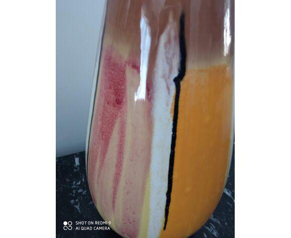 Vase moderniste en céramique vintage