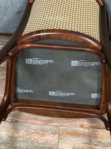 Baumann france pretty pair of curved wooden armchairs circa 1960-1970