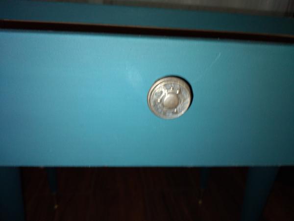 Table de chevet bleu vintage 50/60s